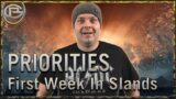 Priorities! – First week in WoW Shadowlands