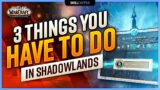 3 THINGS YOU HAVE TO DO IN SHADOWLANDS | 9.0 Daily/Weekly Checklist!
