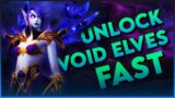 FASTEST WAY TO UNLOCK VOID ELVES | World of Warcraft Shadowlands Allied Race Unlock Guide