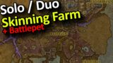 Solo / Duo Skinning Gold Farm + Battlepet | Shadowlands Gold Making Farming Guide