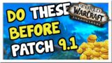 4 Goldmaking Things to do Before Patch 9.1!!   Shadowlands   WoW Gold Making Guide